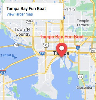 map of tampa bay fun boat